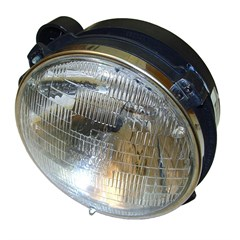 Jeep Wrangler Headlight Assembly w/Bulb, Left Side (1997-2006)