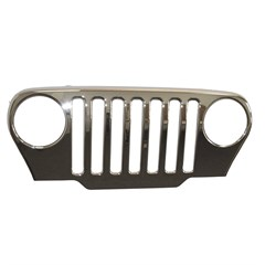 Chrome Grille Overlay for Jeep Wrangler TJ (1997-2006)