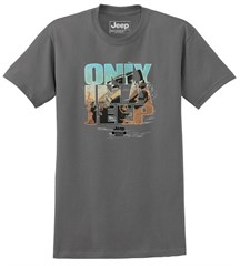 Only in a Jeep Men's T-Shirt in Charcoal Grey