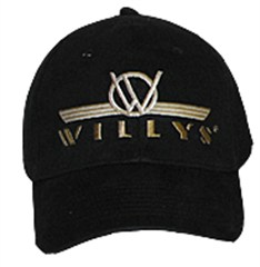 Jeep Willys Logo Baseball Hat, Black