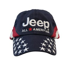 Jeep All-American Flag Hat - Navy Blue