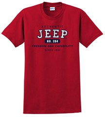 """Authentic Jeep"" Vintage Red Short Sleeved Shirt"