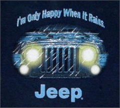 "CLOSEOUT (XL Only) Jeep� Kid's Tee - ""I'm Only Happy When it Rains"""