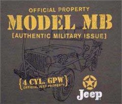 CLOSEOUT (Small Only) - Jeep� Model MB Military T-Shirt (Sage)