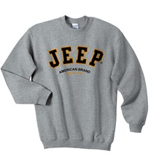 Jeep Crew Sweatshirt with Jeep® Logo (Grey)