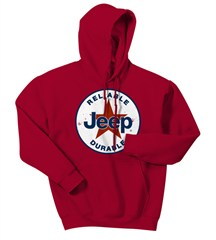 CLOSEOUT (3XL Only) - Red Jeep� Star Hooded Sweatshirt