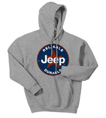 CLOSEOUT - Grey Jeep® Star Hooded Sweatshirt