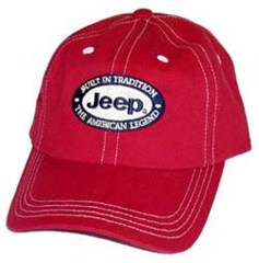 Jeep Contrast Stitch Red Hat (Built in Tradition, The American Legend)