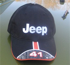 Jeep Black 41, Orange Stripe, Camo Brim Hat