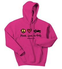 Peace, Love & 4x4's Fleece Hooded Sweatshirt (Multiple Colors)