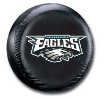 Philadelphia Eagles NFL Tire Cover - Black Vinyl