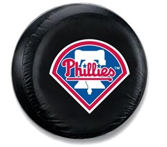 Philadelphia Phillies MLB Tire Cover - Black Vinyl