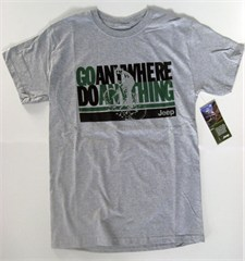 CLOSEOUT - Mountain Biker Go Anywhere Do Anything Jeep Tee, Grey (Small)