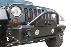 Rampage Front Stubby Recovery Bumper w/Stinger, 2/4 door Jeep JK