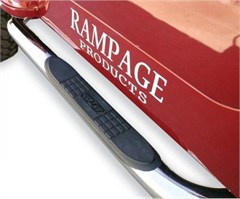 Rampage Stainless Side Guards w/Step for Jeep JK 2Door 2007-2015