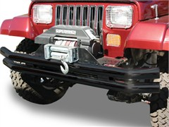 Black Double Tube Bumper for Jeep YJ, TJ & LJ (1987-2006)