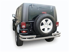 Rampage Products Double Tube Rear Bumper, Stainless Steel, Jeep JK, (2007-2014)