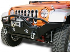 Rampage Products Recovery Bumper, Front with Stinger 2 & 4 Door JK (2007-2014) Textured finish