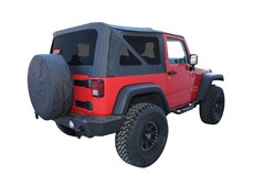 Replacement Soft Top w Tint Windows Wrangler JK 2007-2009 2D Black