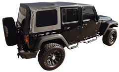 Replacement Soft Top w Tint Windows Wrangler JK 2007-2009 4D Black