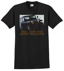 Real Jeeps Have Square Headlights Men's T-Shirt