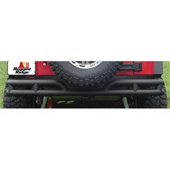 "3"" Inch Textured Black Rear Tube Bumper for Jeep Wrangler JK (2007-2014)"
