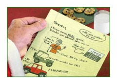 Letter to Santa Christmas Cards for Jeep Lovers,  Fits 4x6 photo