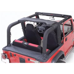Denim Black Full Roll Bar Cover Kit for Jeep Wrangler YJ (1992-1995)