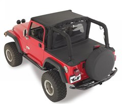 Tonneau Cover, w/ factory Soft Top, Channel Mount, 92-95 Jeep Wrangler, Rampage Products