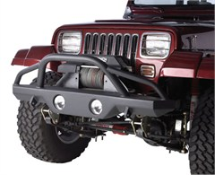 Rampage Products Front Recovery Bumper, with Stinger, '87-'06 Wrangler & Unlimited (lights sold separately)