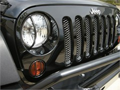 Headlight Euro Guard Wrangler JK 2007-2016 6 Piece Front by Rampage