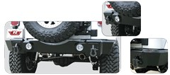 Rear Recovery Bumper by Rampage Products for Wrangler JK (2007-2015)