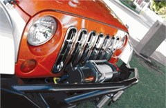 Grille Insert for Jeep Wrangler JK 2007-2016 Chrome by Rampage