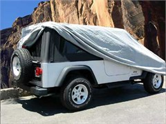 4 Layer Car Cover for Jeep Wrangler Unlimited 2004-2006, Grey