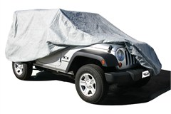 Car Cover 4 Layer for Jeep Wrangler 4 Door 2007-2015, Gray