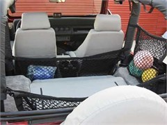 "Jeep Cargo Nets: ""Hang-Tite Roll Bar Cargo Management System"" - Commuter 12"" Hammock Net"