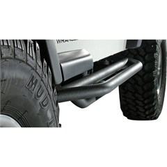 Textured Black RRC Side Armor for Jeep Wrangler YJ (1987-1995), TJ (1997-2006), and LJ (2004-2006)