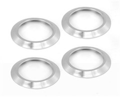 Brushed Aluminum AC Vent Bezels for Jeep Wrangler (2007-2010)