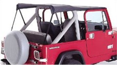 Black Denim Roll Bar Top for Jeep CJ7 and Wrangler YJ (1976-1991)
