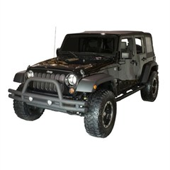 Textured Black Front Double Tube Bumper for Jeep Wrangler JK (2007-2014)