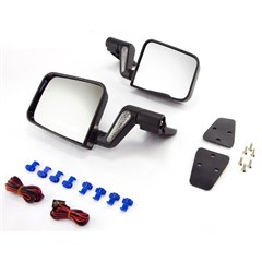 Black Heated Mirror for Wrangler YJ and TJ With Half Doors (1987-2002) and With Full Doors (1994-2002)