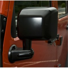 Black Left Hand Side Mirror for Jeep Wrangler JK (2007-2015)