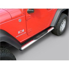 "4 1/4"" Stainless Steel Oval Side Steps - 2 Door Jeep Wrangler JK"
