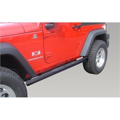 "4 1/4"" Black Oval Side Steps - 2 Door Jeep Wrangler JK 2007-2014"