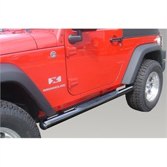 "3"" Inch Black Tube Steps for 2 Door Jeep Wrangler JK (2007-2014)"