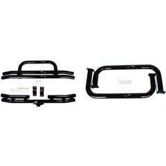 Black Powdercoated Tube Bumper w/Side Step kit - Jeep YJ, TJ, LJ
