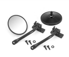 Quick Release Mirror Pair Wrangler TJ LJ JK 1997-2016 Round in Black