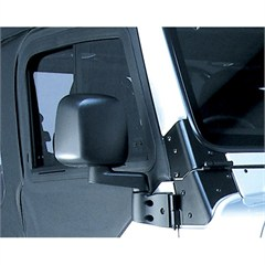 Black Passenger Side Mirror for Jeep Wrangler (1987-2006)