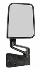 Side Mirror, Jeep YJ and TJ (1987-2002), Black