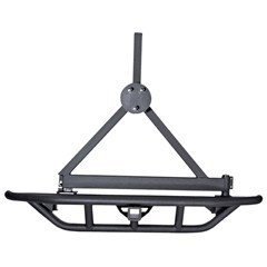 Black RRC Tire Carrier for Jeep Wrangler YJ (1987-1995), TJ (1997-2006), and LJ (2004-2006)